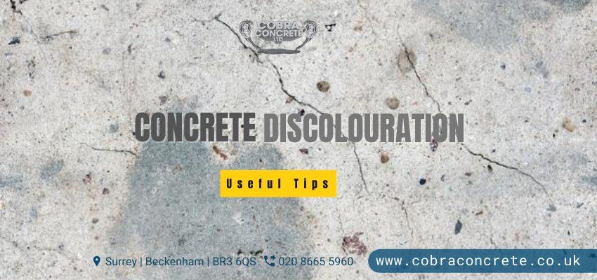 concrete discolouration