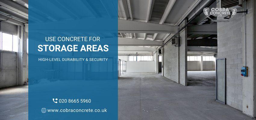 concrete for storage areas